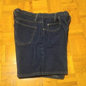 Vintage Anchor Blue Jean Short XL EUC